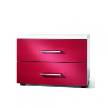 Glossy bedside cabinet