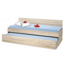 Single bed with pull-out bed