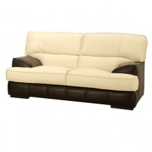 Bicolour 2-seater sofa