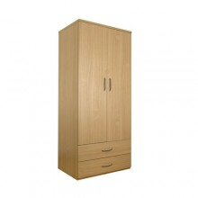 Classic double wardrobe with drawers