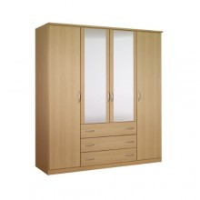 Classic 4-door wardrobe with drawers