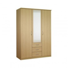 Classic triple wardrobe with drawers