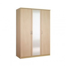 Classic triple wardrobe with a mirror