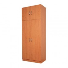 Double wardrobe with extra storage