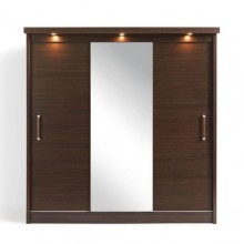 Sliding doors wardrobe with lights